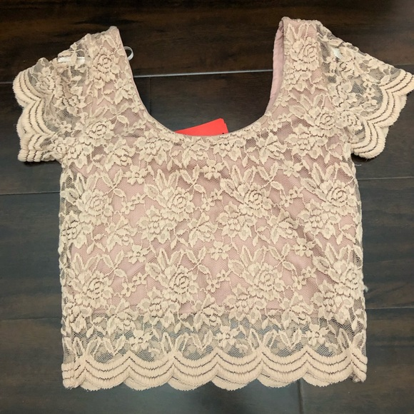 Forever 21 Tops - Knit top, shirt sleeve crop top